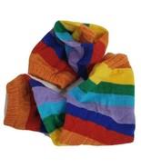 "Rainbow Leg Warmer 2 Pieces 15"" Long Striped Colorful Legs Warmers - $21.55"