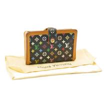 LOUIS VUITTON Multicolor Portefeuille Viennois Wallet Noir M92988 8690 - $240.00