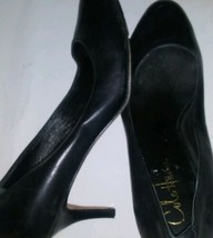 Cole Haan Air 7.5 Black Leather Heels Pumps Platform Classic Work Air - $49.50