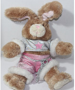 Build a Bear Workshop BROWN BUNNY IN DANCE ROCK STAR OUTFIT Stuffed Plus... - $17.81