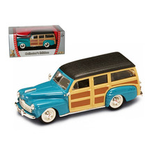 1948 Ford Woody Turquoise 1/43 Diecast Car by Road Signature 94251tur - $19.30