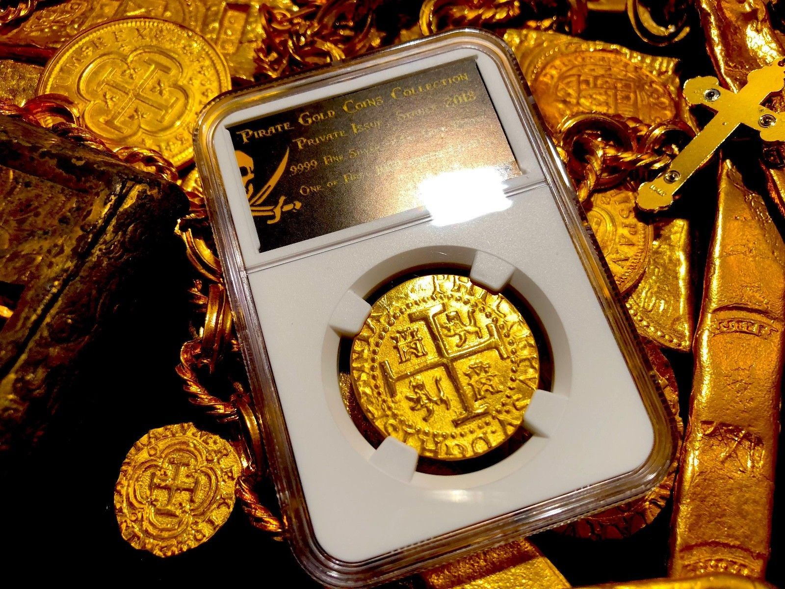 Primary image for PERU 1710 8 ESCUDOS NGC GOLD PLT 1715 SHIPWRECK PIRATE TREASURE COIN JEWELRY COB
