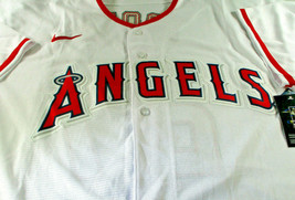MIKE TROUT / AUTOGRAPHED LOS ANGELES ANGELS PRO STYLE BASEBALL JERSEY / COA image 2