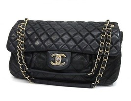 AUTHENTIC CHANEL Matelasse Coated Leather Shoul... - $2,200.00