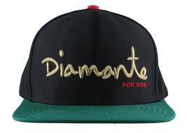 Diamond Supply Co. Black Green Diamante Por Vida Snapback Baseball Hat NWT
