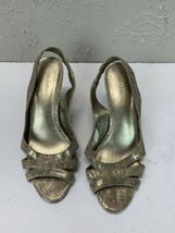 Liz Claiborne Polly Women's Leather Snake Print Slingback Heels Pumps Size 6.5 - $11.26