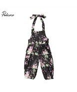 new born baby clothes Girl Flower Halter Backless Romper baby floral pri... - $9.69
