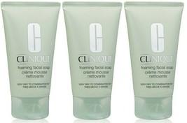 3 x Clinique Foaming Facial Soap - 1 oz/30 ml each  = 3 oz/90 ml TOTAL! - $11.98