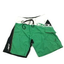 O'neill Boardshorts Size 34 Waist Swim Shorts Green Swimsuit Retro Color... - $21.63