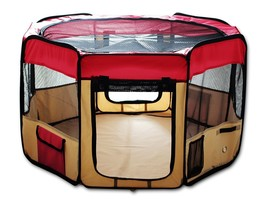 Red Pet Puppy Dog Play Pen Portable Exercise Pl... - $52.71