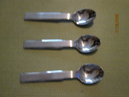 """Stanley Roberts Oblique set of 3 teaspoons 5 3/4"""" - $17.77"""