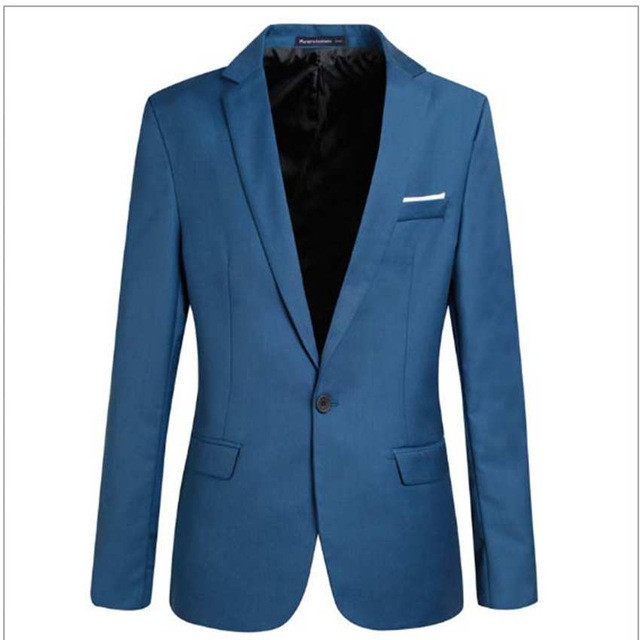 Slim Fit Men Suit Jacket Cotton