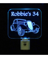 Personalized Antique Car LED Night Light - Acrylic - Laser Etched Lamp -... - $23.50