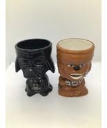Star Wars Darth Vader & WOOKIE CHEWBACCA Ceramic Goblets Cups Coffee Mug... - $19.80
