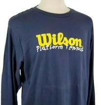 Wilson Platform Tennis T-Shirt XXL Double Sided Long Sleeve Crew Neck Ma... - $19.89