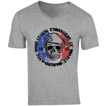 French Legion Etrangere 1 - New Cotton Grey V-NECK Tshirt - $20.70