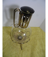 Vintage Karmax Mid Century Carafe Decanter  Glass Coffee Pot Tea Light  ... - $35.63