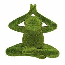 Pacific Giftware PT Meditation Pose Lotus Yoga Frog Artificial Turf Synthetic Gr - $19.99