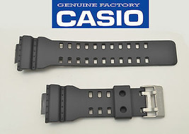 Genuine Casio 22 mm Watch Band Rubber Strap Greyish Black G-Shock GA-11... - $29.88