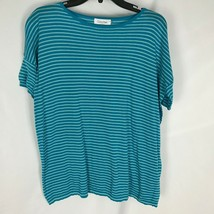 Calvin Klein Women Shirt Knit Short Sleeve Stripe Top Size S - $14.43