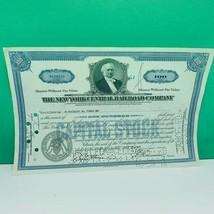Railroad train company stock bond ephemera certificate 1941 new york cen... - $28.89