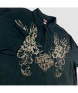 Harley Davidson Black Polo Golf Shirt Double Eagles Warr's London Englan... - $59.99