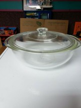 Pyrex Clear Glass Bowl With Lid - $34.65