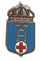 WWII Sweden Home Guard Red Cross Badge  - $14.95