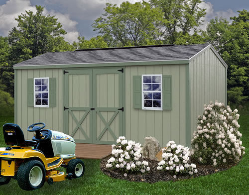 Best Barns Cypress 16x10 Wood Storage Shed Kit - ALL Pre-Cut