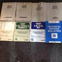 1987 CHRYSLER CONQUEST Service Repair Shop Workshop Manual Set OEM W LOTS  - $178.15