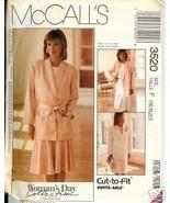 "McCall's Pattern 3520 ""Woman's Day"" Misses' Jkt., Belt & Skirt Size 16 -20 - $1.75"
