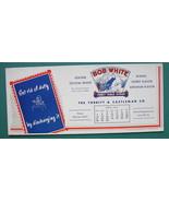 INK BLOTTER 1957 -  AD Bob White Table Syrup Torbitt Castleman Louisvill... - $4.49