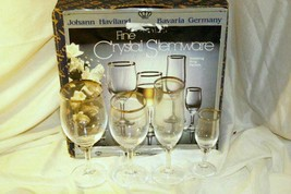 Johann Haviland Wedding Ring 4 Piece Crystal  Set Wine Water Champagne C... - $17.32