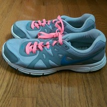 Nike Revolution 2 Grey Pink Blue - No Insole - Size 11 - 554900-006 - $14.99