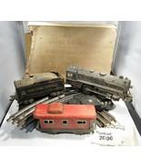 Vintage Marx Streamline Electric Model Train Engine and 6 Cars w/ Tracks... - $53.04