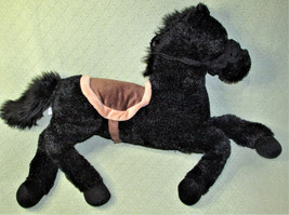 "134"" Long Applause Black Stallion Horse Stuffed Animal Russ Bridle Brown Saddle - $38.61"