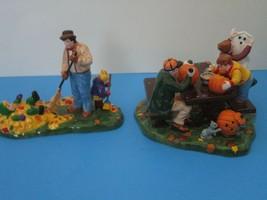 Dept 56 1999 Preparing For Halloween #56.54982 Pumpkin Carving Snow Village - $45.95
