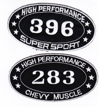 Chevy 396 And 283 SEW/IRON On Patch Emblem Badge Embroidered Hot Rod Car - $11.99