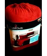 $90 Cuddl Duds MicroFleece Sheet Set Dark Red Queen Super Cozy Soft Flee... - $49.47