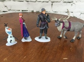 Disney Store Frozen Figurine Playset 4 Pieces Anna Kristof Olaf - $17.82