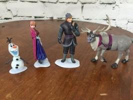 Disney Store Frozen Figurine Playset 4 Pieces Anna Kristof Olaf - $17.82