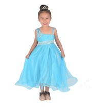 Cinda Light Blue Flower Girl Bridesmaid Pageant Dress Party Dress 12 M- ... - $18.76+