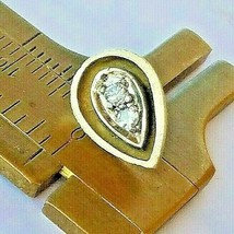 MEN$GEM$VINTAGE DOUBLE-DIAMOND 14K TIE TACK PIN(.23CTw) 2ToneGOLD~3.43g - $455.00
