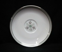 "Noritake China Lucille 5813 6"" Saucer Plate Gray Green Band Flowers Japan - $8.90"