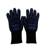 BBQ Grill Heat Resistant Cooking Oven Gloves (Pair) - Up to 932°F Kevlar... - $262,96 MXN