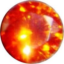 15 mm SAPPHIRE PADPARADSCHA ORANGE LOOSE ROUND DIAMOND-SPARKLING HARDNESS 9 - $29.99
