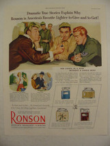 1952 Ronson LIGHTER 908 Lights in a Row AIRMEN Military 4 Styles Shown P... - $9.99