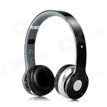 Foldable On-ear Wireless Stereo Bluetooth Headphones Headset - Black - $24.53