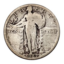 1927-S Silver Standing Liberty Quarter 25C (Very Good, VG Condition) - $69.29