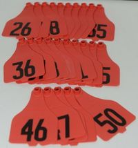 Destron Fearing DuFlex Visual ID Panel Tags Livestock Red XL 25 Sets 26 to 50 image 4